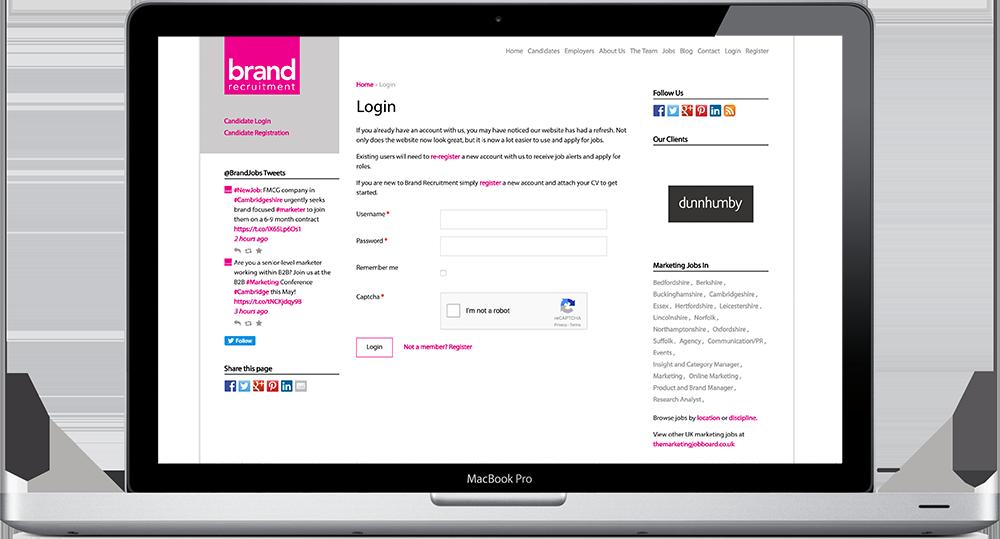 Brand Recruitment - Bespoke WordPress Design