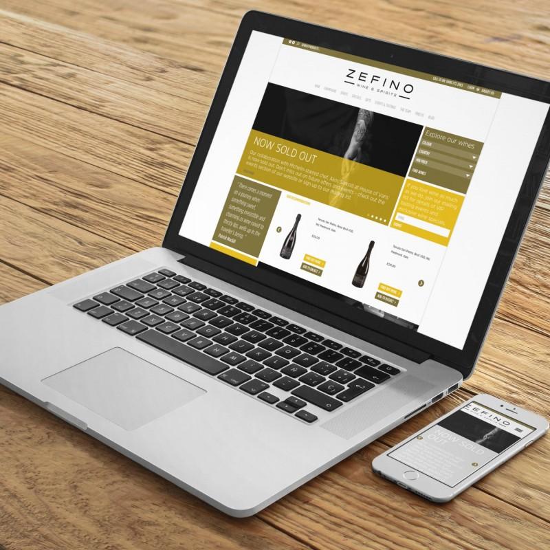 Zefino Wines - Bespoke WordPress Design